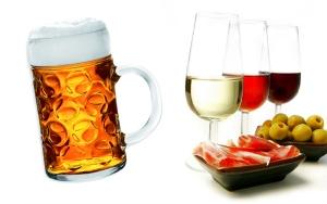 cerveza o vino