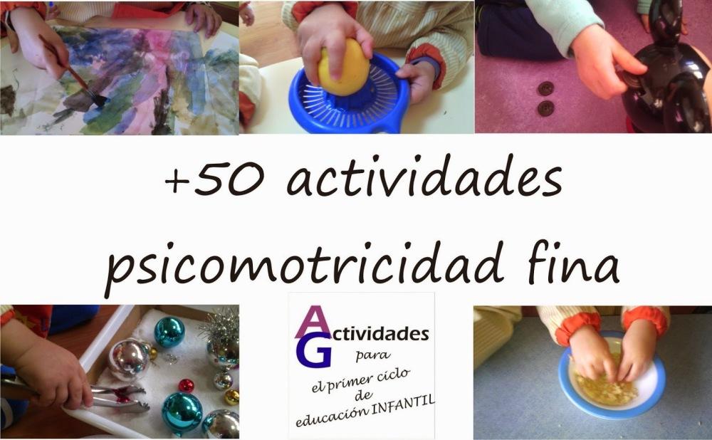 Colección de actividades para trabajar la motricidad fina, la coordinación óculomanual y la fuerza de dedos