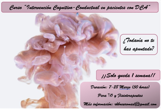 Promoción curso Cognitivo-Conductual